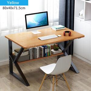 Computer Desk PC Laptop Table Study Workstation Shelf Wood Home Office Furniture