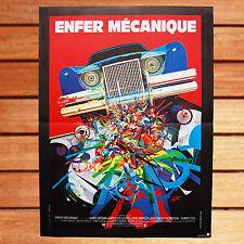 ELLIOT SILVERSTEIN AFFICHE ORIGINALE 40X60 CM ENFER MECANIQUE THE CAR