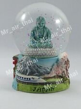 Vintage Snow Globe Water Art Glass Paper Weight 3D Resin Japan Souvenir Gift 002
