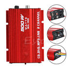 2-CH 500W Hi-Fi Stereo Audio Amplifier AMP For Car Motorcycle Home Mp3 HQ