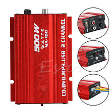 Mini Hi-Fi 500W 2 Channel Stereo Audio Amplifier for Car Motorcycle NEW