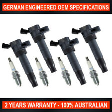 Set 4x NGK Spark Plug & 4x Ignition Coil for Hyundai iLoad iMax TQ 2008-ON 2.4L