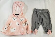 Carter's Infant Girl NewBorn Pink Kitty Outfit w/Matching Leggings