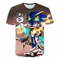 Super Sonic The Hedgehog Kids TShirt Boys Girls Children 3D Print Funny Cartoon