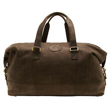 Rowallan-COWHIDE marrone in pelle borsa da viaggio / zainetto con tracolla