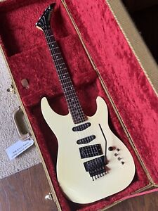 1985 Kramer Pacer Cream Electric Guitar Floyd Rose