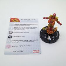 Heroclix Age of Ultron set Iron Man 2020 #050 Super Rare figure w/card!