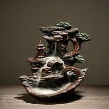 Ceramic Smoke Waterfall Backflow Incense Burner Holder Censer Retro Home Decor
