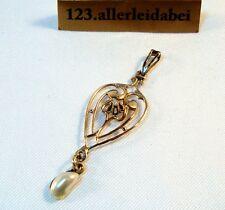 filigraner Perlen Diamant Anhänger Gold 417 er Gold 10K Goldanhänger / AW 199