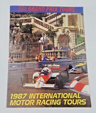 1987 Grand Prix Tours International Motor Racing Tours Brochure
