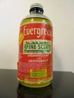 Vintage 1940s EVERGREEN PINE SCENT DISINFECTANT DEODORANT Advertising Bottle Jar