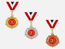 1st 2nd 3rd Place awards medals 3 trophies free engraving & post any sport event