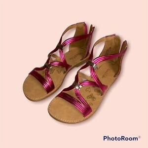 Olive and Edie Girl's Sandals Pink Size 3 Youth