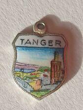 Tanger, Tanger, MOROCCO Vintage silver enamel Travel Charm