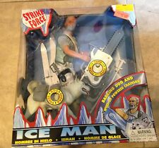 Strike Force Ice Man w/ Barking Dog & Powered Chainsaw Figure NEW factory sealed