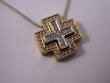 Christ Kreuz Anhänger mit Kette Brillanten Verwandlungsanhänger 585 Gold