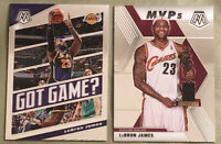 2019-20 Panini Mosaic MVPs #298 & Got Game? #7 LeBron James Both Mint - LOT OF 2