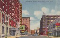 Postcard Third Street Looking North Cedar Rapids Iowa