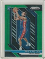 2018-19 Panini Prizm Prizms Green #132 Bruce Brown RC Pistons