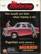 Motoring 9/58 Nuffield Mag MG 18/80, Riley 1.5, Disabled Drivers rally +