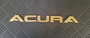 OEM Acura Body/Dash/Trunk Emblem. GOLD color. 23cm