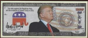 RE-ELECT DONALD TRUMP Million 🤴💶 Fantasy Note 🤴🗽💶 Buy More Save More 🦅