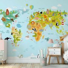 Carta da Parati 368x254cm Animali Of The World Foto Murale Per Camera Mappa