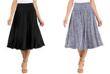 SALE! Hilary Radley Womens Skirt Midi Length With Tummy smoothing features | C12