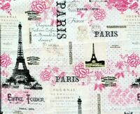 FABRIC PARIS EIFFEL TOWER FRANCE 100% COTTON DAVID TEXTILES QUILTING BY THE YARD