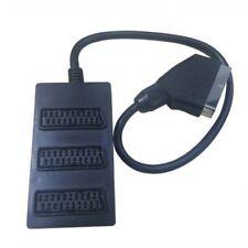 3 Way SCART Splitter Cavo Lead Wire Interruttore Box Adattatore Estensione TV DVD Video