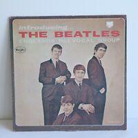 "Introducing The Beatles Vinyl Record Vee-Jay Black Label 12"" SR-1062 Stereo"