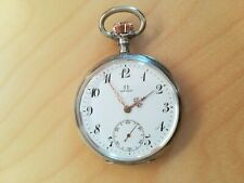 9T392 Omega silver pocket watch with flower relief  欧米茄 银