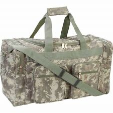 "21"" Heavy Duty CAMO Tote Bag Water Resistant Gym Duffle Hunting Shoulder Gear"