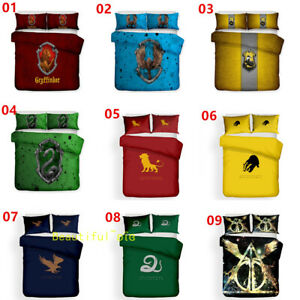 Harry Potter Single/Double/Queen/King Bed Quilt/Doona/Duvet Cover Set Pillowcase