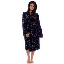 Women Ladies Girl Moon Star Fleece Dressing Gown Magical Bath Robe Gazing Potter