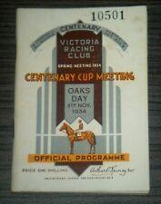 Vintage 1934 Victoria Racing Club VRC Oaks Day Horse Race Programme
