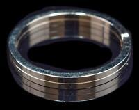 Vintage Sterling Silver Flat Wire Split Round Key Ring