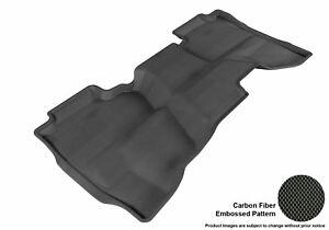 For 2014-2018 Chevrolet Gmc Silverado Carbon Pattern Black All Weather Floor Mat
