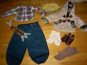 Alte Puppenkleidung * Schönes Konvolut für Krusejungen, Hemd,Kapuzenjacke u.a.*