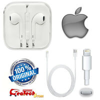 Cuffie EarPods Originale Apple MD827ZM/A + Cavo Lightning Per iPhone 5S SE 6 6S