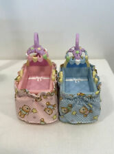 Loving Family Nursery 2 Bassinets Twins Pink & Blue Dollhouse Fisher Price Baby