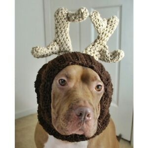 Reindeer Crochet Snood for Dogs Handmade - Size Large - Free Shipping