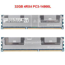 For SK Hynix 32GB 4RX4 PC3-14900L DDR3-1866Mhz ECC REG LRDIMM Server Memory RAM