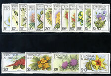 Trinidad & Tobago 1983 QEII Flowers set complete MNH. SG 636A-651A. Sc 392-407.