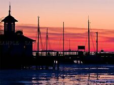 HARBOUR ICE GOTHENBURG BOATS PINK SUNSET PHOTO ART PRINT POSTER PICTURE BMP311A