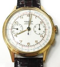Orator 2514 Chronograph Mechanical Wind Up Genuine Vintage Wrist Watch 17 Jewels
