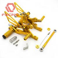 FXCNC Racing Rearsets Foot Pegs For YZF R1 1998-2003 2002 2001 2000 Gold