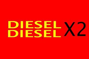DIESEL Stickers X2 Car Van Fuel Reminder Sticker FLEET VEHICLE HIRE CARS LORRY