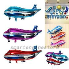 "3PCS 32"" Foil Aeroplane Balloon Red Blue Plane Party Birthday Decoration 82cm US"