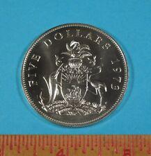 1973 Elizabeth II Bahamas Island $5 UNC. COIN - over 1.25 oz of pure Silver